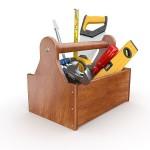 Narzędzia (pace, kielnie, miary, łopaty, poziomnice itd)